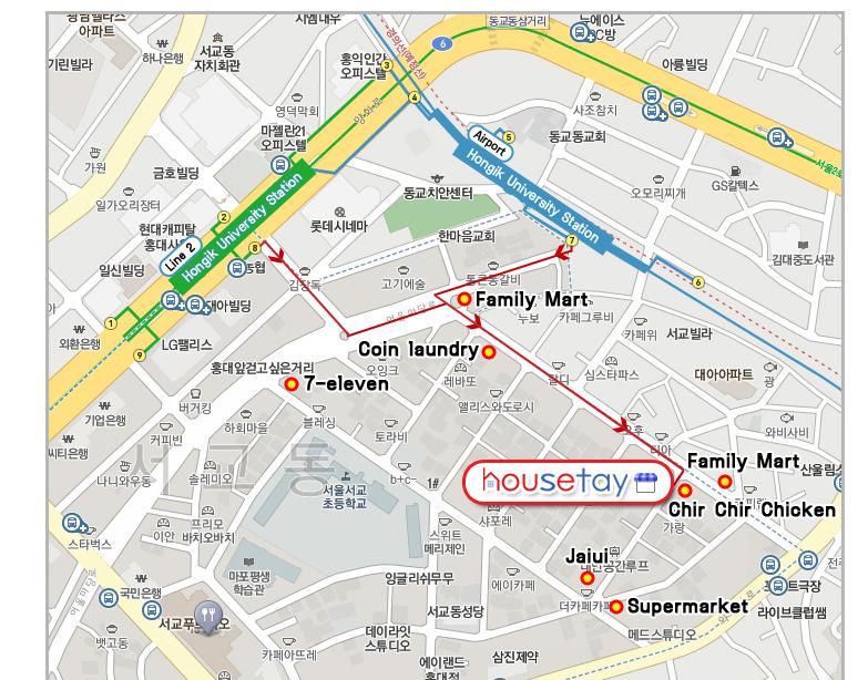 Map Housetay