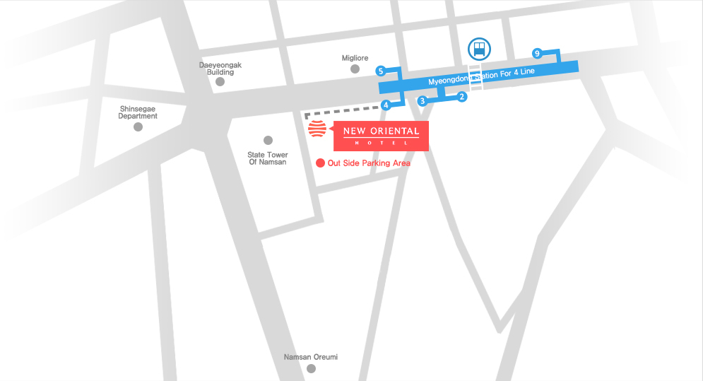 Map New Oriental Hotel *Copyright of New Oriental Hotel*